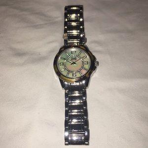 Coach silver watch